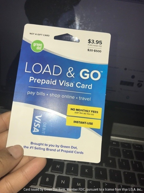 the load go card costs 395 to activate and you just pay a 150 transaction fee every time you use it plus you can load it up to 50000 if you want - Load Prepaid Card Online